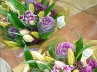 Bouquet 45€ Gold and Purple